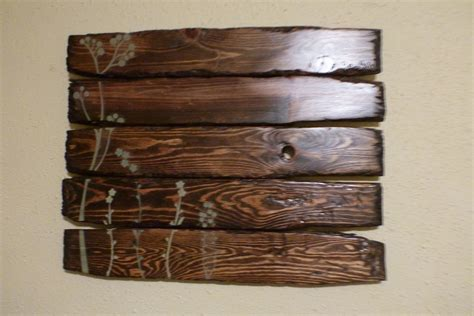 wood decor gorgeous reclaimed wood art which is created using glossy