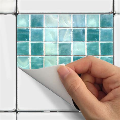 wall tile stickers wall tile decals vinyl sticker waterproof tile or by snazzydecal