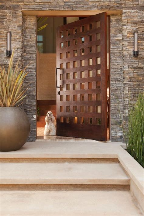 Large Foyer Lights Front Door Entrance Plants Entry Rustic With Outdoor