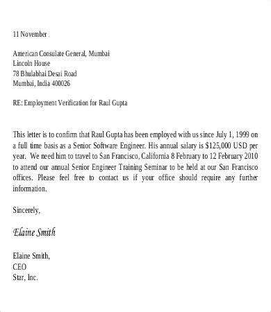 verification of employment letter employee verification letter 10 free word pdf documents 1701