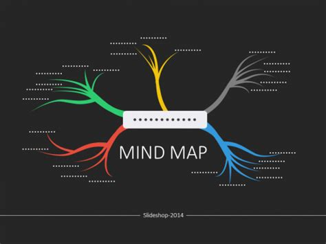 mind map template powerpoint free powerpoint mind map flat