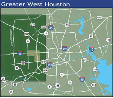 west houston map