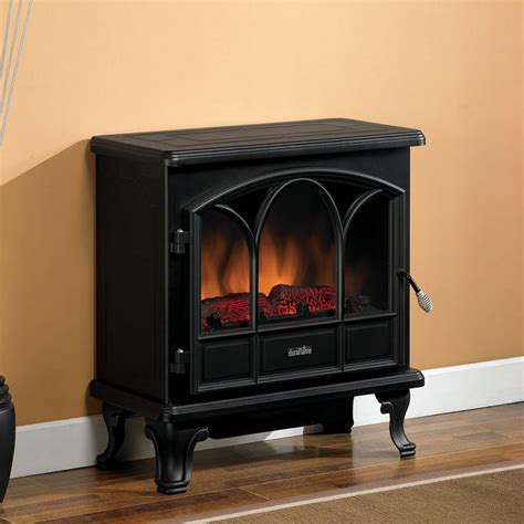 Electric Fireplace Heaters Duraflame 750 Black Freestanding Electric Stove With Remote Dfs 750 1