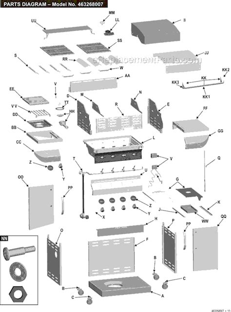 char broil commercial series outdoor sink char broil 463268007 parts list and diagram