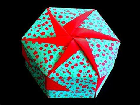 An Origami Box - how to make an origami gift box lid