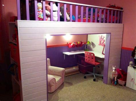 girls loft bed with desk pinterest the world s catalog of ideas