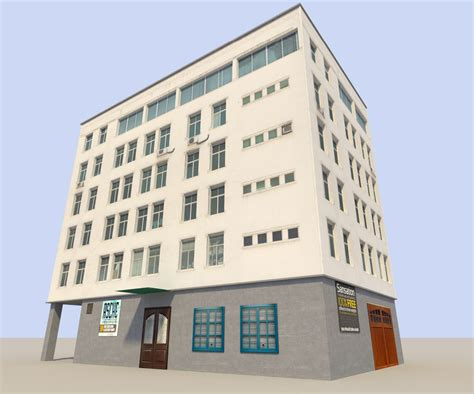 what is a flat house 3d model low poyl town flat house vr ar low poly obj 3ds fbx blend dae x3d