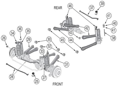 2001 jeep grand front end diagram jeep grand front suspension diagram jeep free