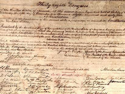 abraham lincoln 14th amendment 13th amendment facts