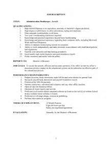 bookkeeper resume duties - Bookkeeper Resume
