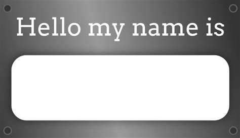 Name Tag Label Templates Exles Lucidpress Name Plate Template