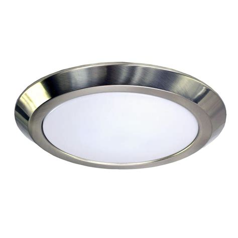 6 brushed nickel recessed light trim homeselects 6 in brushed nickel recessed led trim with