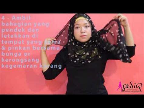 Pashmina Cinderella Pashmina Bunga Bunga cara pakai tudung mudah shawl bunga cara senang
