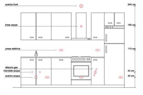 altezza lavello cucina impianti della cucina come predisporli guida per casa