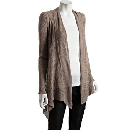 autumn cashmere draped cardigan lyst autumn cashmere tea pointelle modal draped cardigan