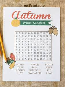 Kids Fall Craft - autumn word search for kids liz on call