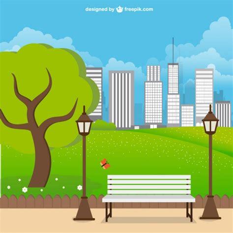 imagenes urbanas vectorizadas paisaje de parque urbano descargar vectores gratis