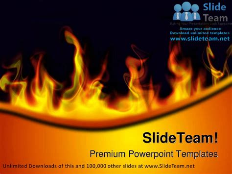 fire flames abstract powerpoint templates themes and