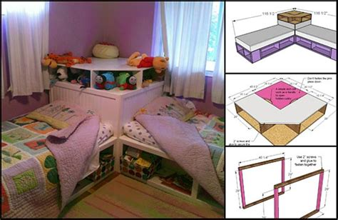 corner twin bed unit how to build a corner unit for twin storage beds
