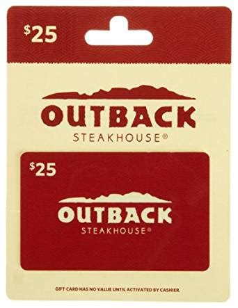 Find Balance On Amazon Gift Card - amazon com outback steakhouse gift card 25 gift cards
