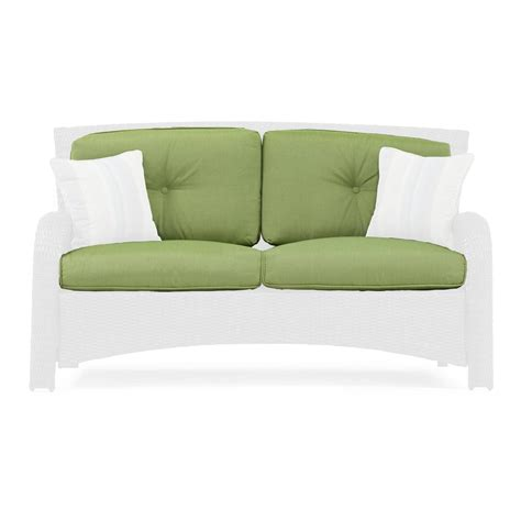 replacement cushions for loveseat sawyer patio loveseat replacement cushion la z boy outdoor
