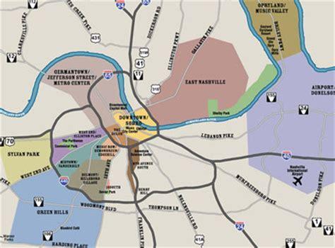 map  nashville area  travel information