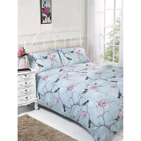 Floral Duvet Cover King floral birds king size duvet set bedding duvet covers