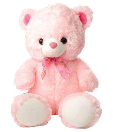 tabby toys cute pink color teddy soft toy 38cm snapdeal