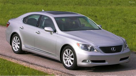 lexus metallic lexus ls 460 in silver pose in field wallpaper