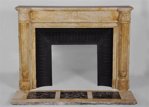 yellow fireplace beautiful antique louis xvi style fireplace in yellow from