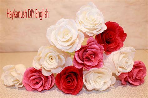 como hacer flores con papel crepe paso a paso tutorial como hacer flores de papel crepe rosa flores youtube