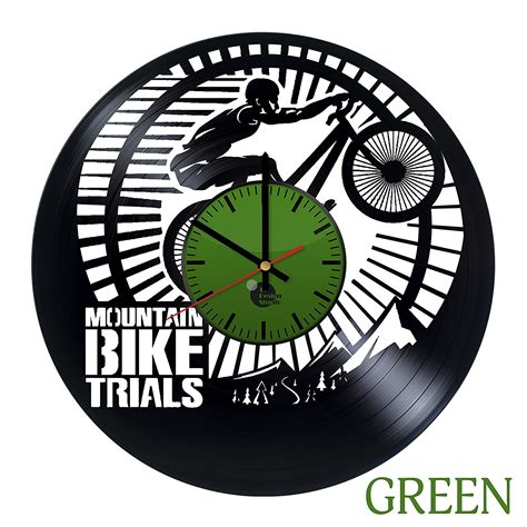 unique wall clocks mountain bike vinyl record wall clock unique gift vinyl
