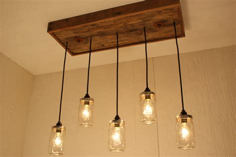 Reclaimed Chandeliers Jar Chandelier With Reclaimed Wood And By Bornagainwoodworks