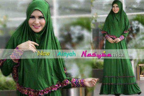 Veco026 Aisyah Syar I Grey aisyah by nasywa hijau baju muslim gamis modern