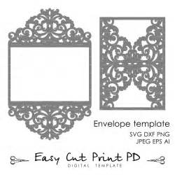 Free Silhouette Cameo Templates Wedding Invitation Pattern Card Template Lace Folds