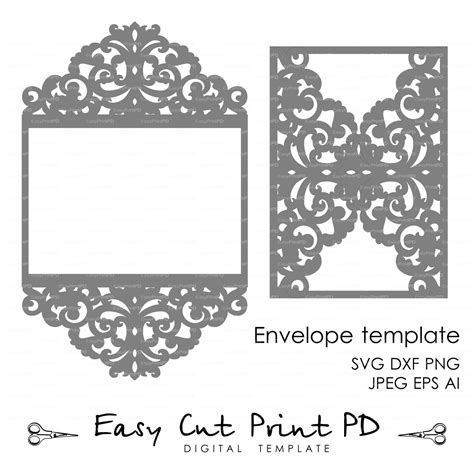 free svg card templates wedding invitation pattern card template lace by