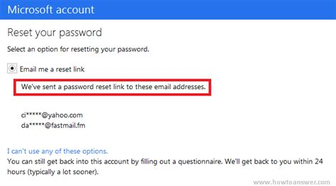 resetting windows live email password how to reset your hotmail windows live password