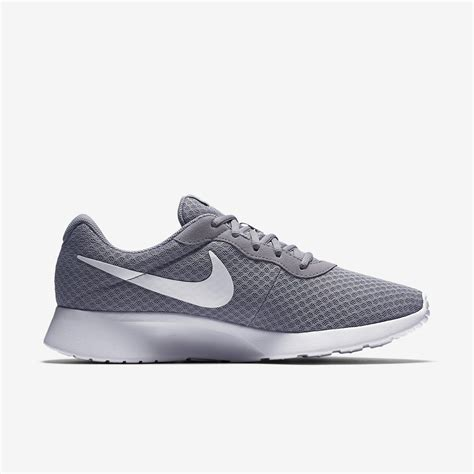 nike grey and white running shoes nike mens tanjun running shoes wolf grey white