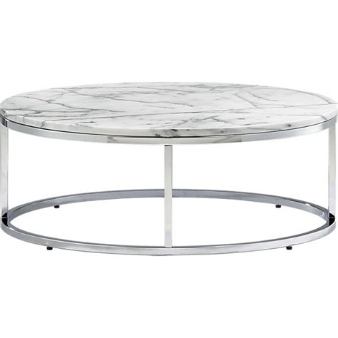 Round Marble Top Coffee Table Smart Round Marble Top Coffee Table Cb2