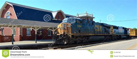 csx freight and depot editorial stock photo
