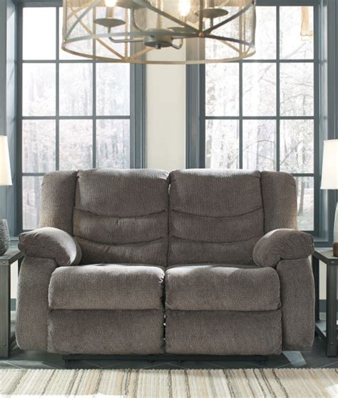 tulen gray reclining loveseat tulen grey reclining sofa all american furniture