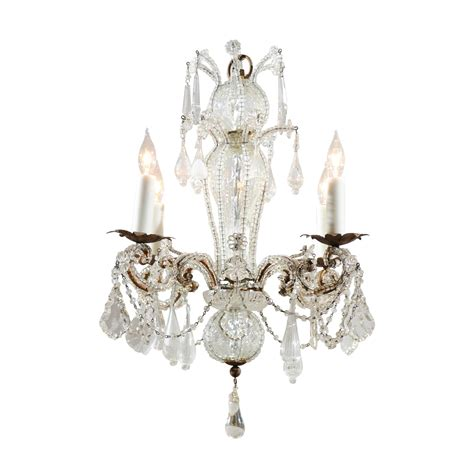 Venetian Glass Chandelier Venetian Glass And Chandelier With Four Lights