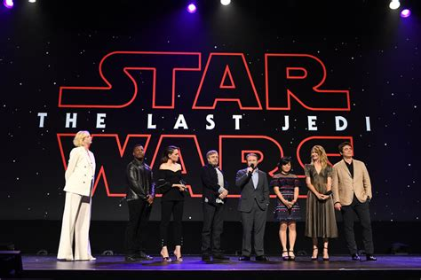 Star Wars The Last Jedi Sweepstakes - the cast of quot star wars the last jedi quot battle each other at disney s d23 expo tom