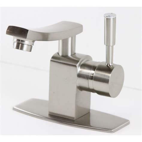 brushed nickle bathroom vessel sink faucet cover deck
