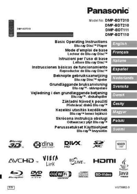 Panasonic Dmp Bdt310 Dvd Blu Ray Player Download Manual