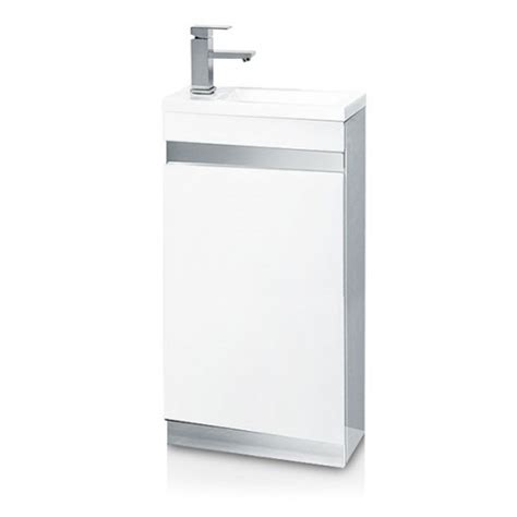 Vigo Bathroom Furniture Vigo 420mm White Cloakroom Vanity Unit