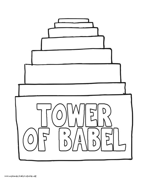 the tower of babel coloring pages coloring home