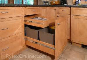 kitchen recycling pullout trash cabinets orange county ny