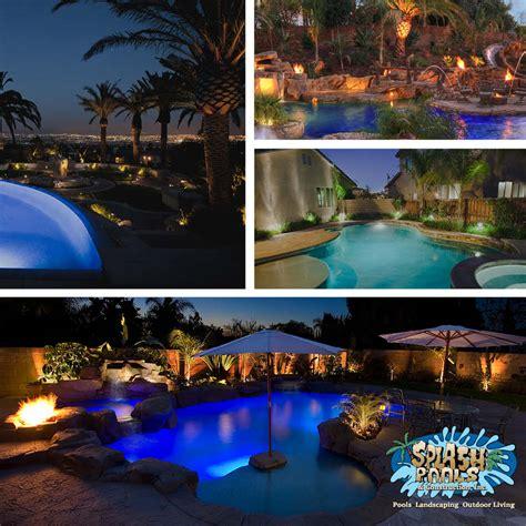 Pool Landscape Lighting Custom Backyard Lighting Splash Pools And Construction