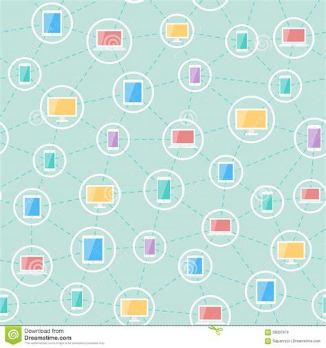network pattern en français social network devices pattern stock vector image 58007678